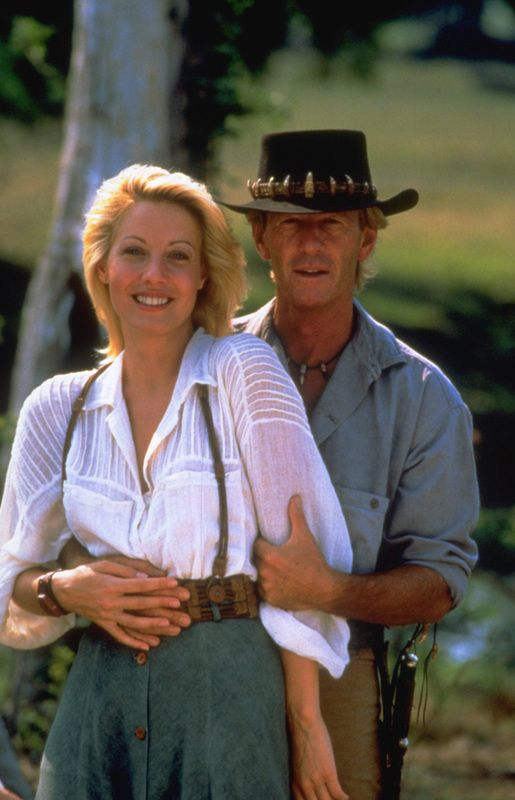Linda Kozlowski in Crocodile Dundee 2 I LOVE her blouse!  Wish I could find a picture of the back.