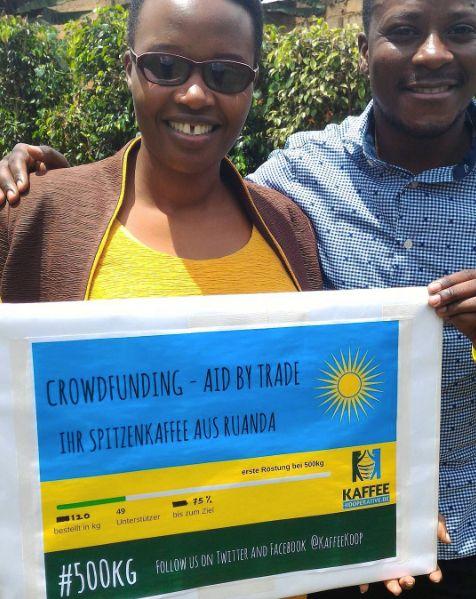 Angelique Chefin der Rösterei bittet um eure Unterstützung für #500kg Kaffeeglück