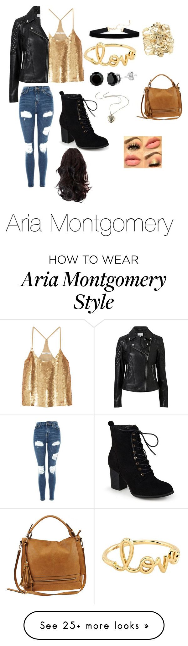 """Aria Montgomery"" by carebearlover on Polyvore featuring Witchery, TIBI, Journee Collection, Topshop, Sydney Evan, Aurélie Bidermann, Urban Expressions and pretty"