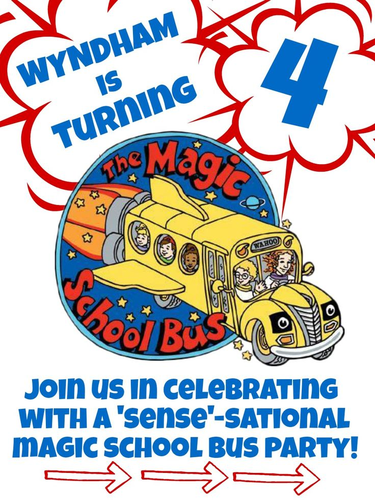 87 best Magic School Bus Birthday images on Pinterest | Artists ...