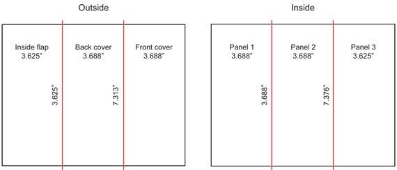 Tri Fold Brochure Dimensions Brochure Size Brochure