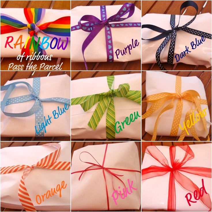 Giggleberry Creations!: Rainbow of Ribbon party games and crafts