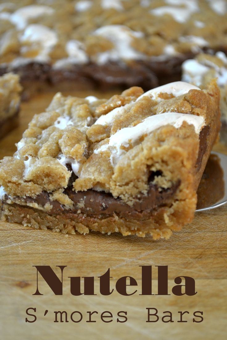 Skip the campfire and get straight to the good stuff --- Nutella S'mores Bars from The View from Great Island