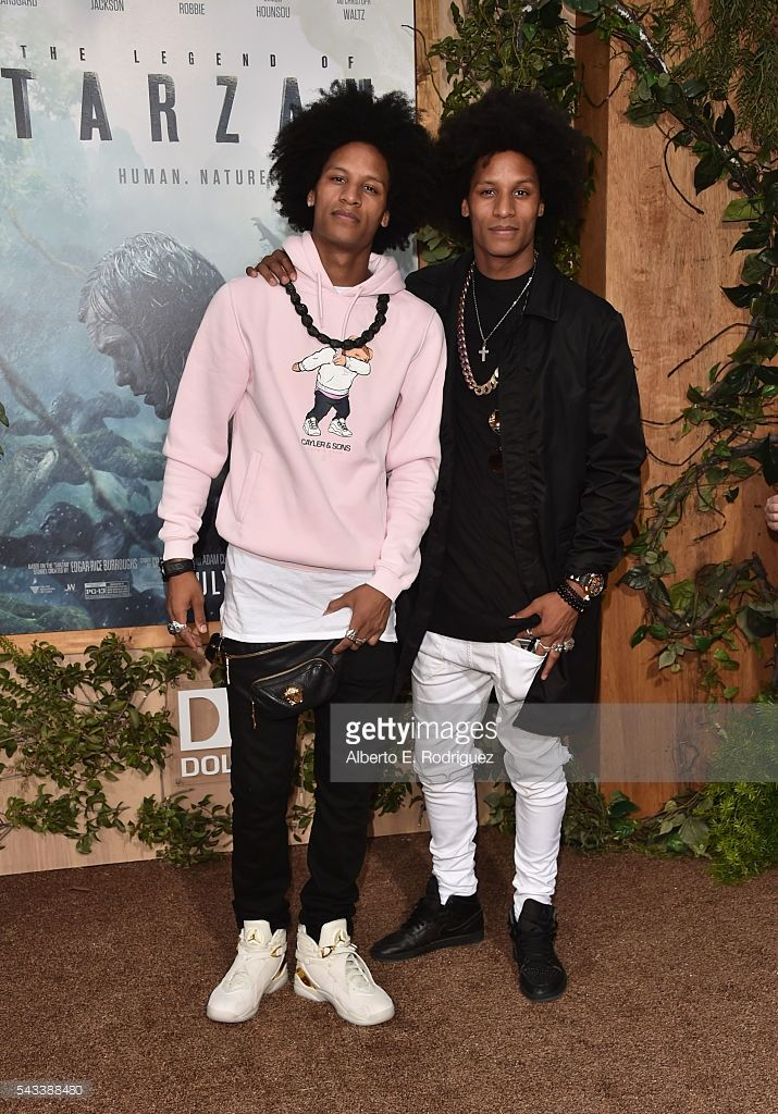 Recording artists Les Twins attend the premiere of Warner Bros. Pictures' 'The Legend of Tarzan' at Dolby Theatre on June 27, 2016 in Hollywood, California.