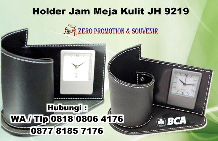 Jam Meja Promosi : Holder Jam Meja Kulit JH 9219