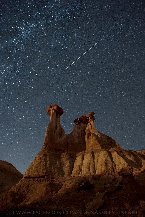Orionid Meteor  Taken by John Ashley on October 21, 2015 @ Glendive, Montana, Makoshika State Park