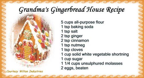 Gingerbread House Recipe; Tried and true by the experts - Wilton! See different Gingerbread House designs. Free Christmas centerpiece tutorials.