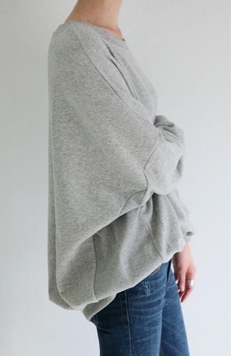 slouchy sweatshirt + skinnies