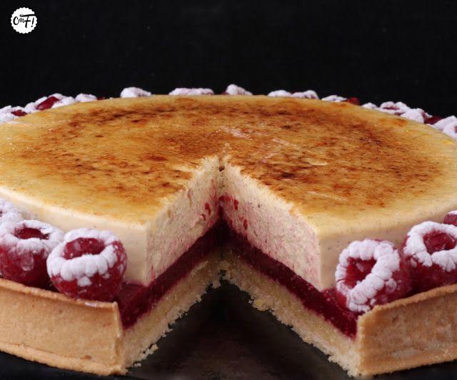 TARTE FRAMBOISES / CREME BRULEE (PATE : 110g de farine, 65g de beurre, 25g d'œuf, 42g de sucre glace, 30g de poudre d'amande) (CREME AMANDE : 50g de poudre d'amande, 50g de sucre, 50g de beurre, 50g d'œuf, 25g de crème) (CREME BRULEE : 300g de crème, 60g de jaune d'œuf, 35g de cassonade, 1,8g de pectine X58 ou de pectine NH, 1 gousse de vanille) (CONFIT FRAMBOISES : 250g de framboises, 25g de sucre, 2,5g de pectine NH)