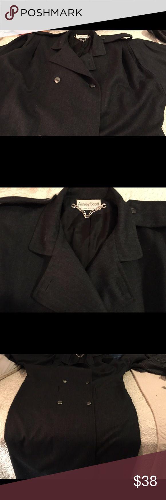 Vintage Ashley Scott Wool Coat Vintage Ashley Scott Wool Coat Ashley Scott Jackets & Coats Trench Coats