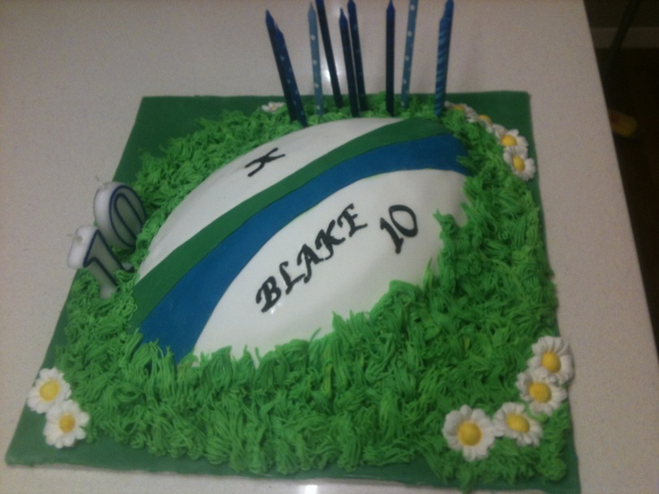 Cake Decorating Ideas Rugby : Rugby Birthday Cake. J cake Pinterest Rugby, Rugby ...