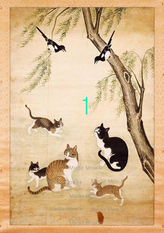 Pussycat Kitty Asian Fine Art Print-Order MadeBUY 2 GET 1