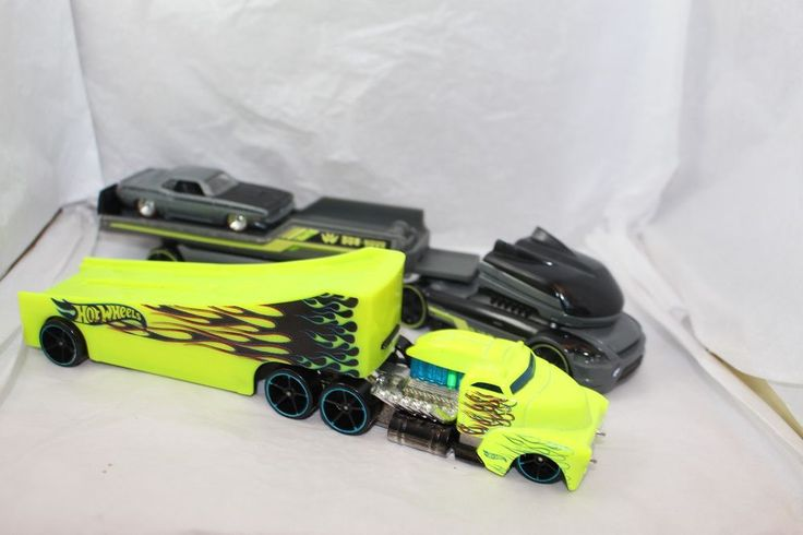 Hot Wheels *Two Semi Trucks and one gray 1970 Cuda rubber tires* Loose lot #HotWheels #Dodge