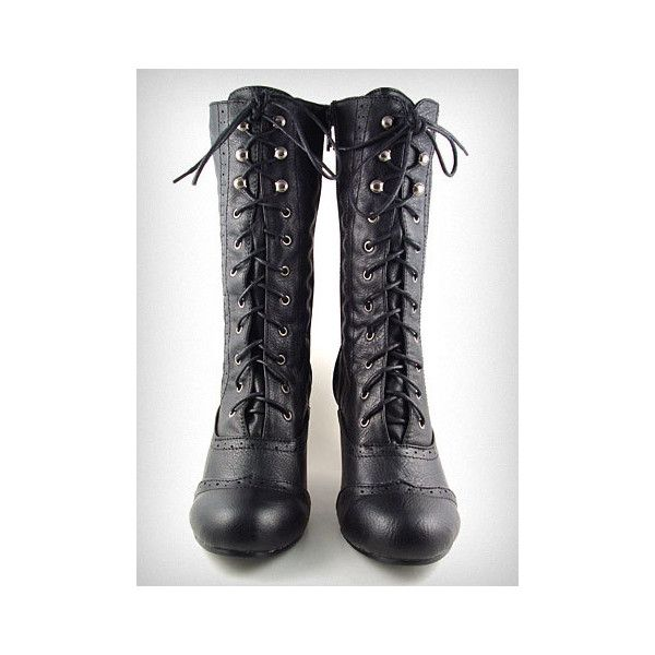 Coal Mill Victorian Boots found on Polyvore featuring polyvore