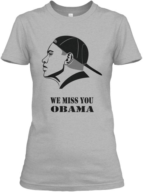 We Miss You Obama Sport Grey Women's T-Shirt Front