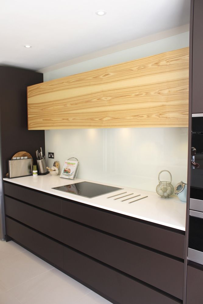 My Kitchen Design   Beautiful Matt Lacquer Mahogany Brown With Contrasting  Olive Wood Wall Cabinet Part 39