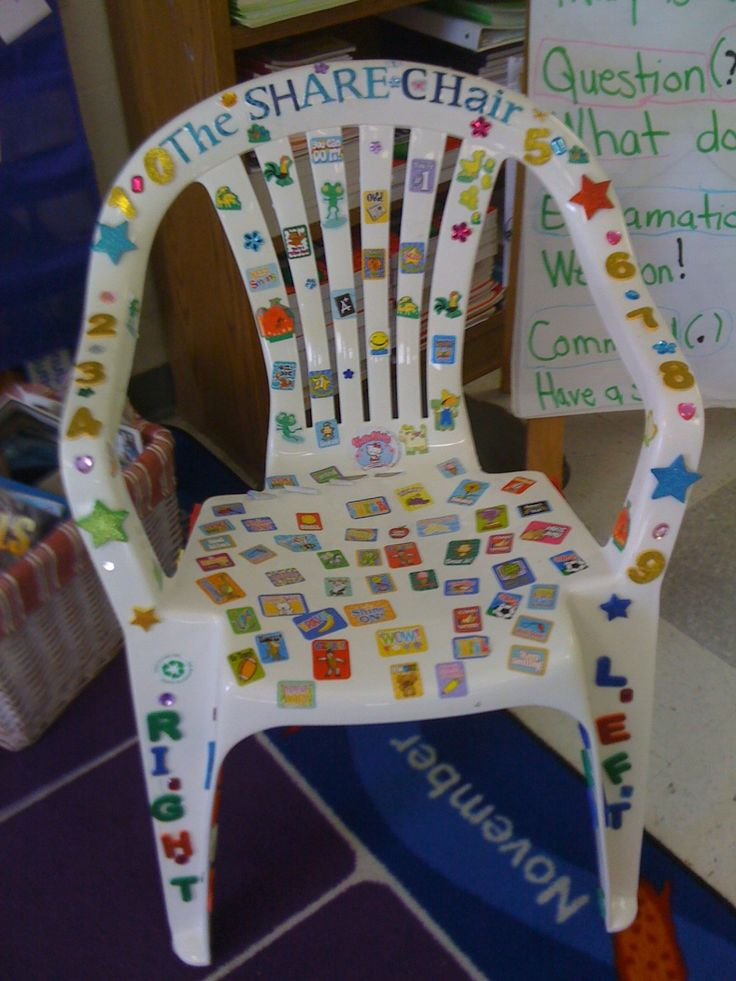 I'm going to take this and tweak it...but a share chair will be created this summer rather just using a stool in my room...I'll post mine when completed :)