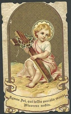 Vintage holy card of the Divine Child