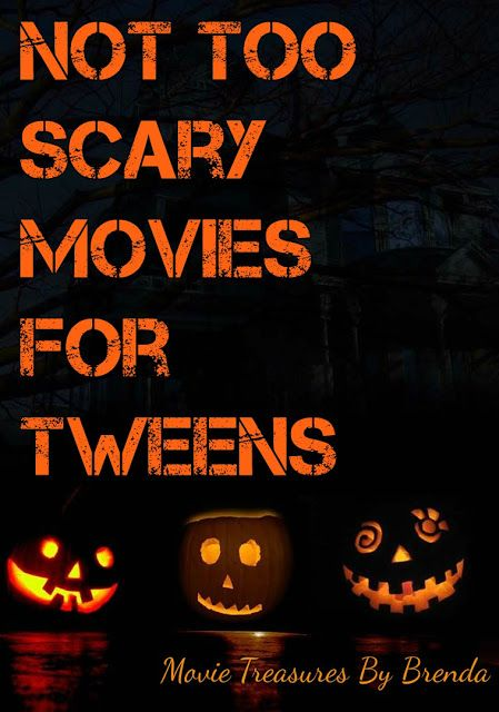 Not Too Scary Movies for Tweens - a list with information about horror movies and their suitability (or unsuitability) for preteen and tweens.