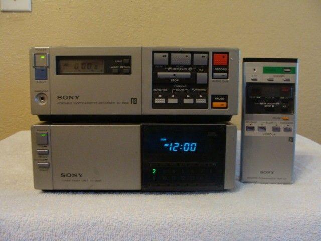 Sony Beta Max Sony Betamax Sl 2000 And Tuner Tt 2000 Information