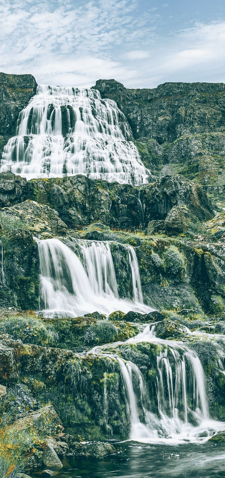 Dynjandi Waterfall in the Westfjords of Iceland! See 15 more of the most incredible waterfalls in Iceland on avenlylanetravel.com #iceland #europe #avenlylanetravel