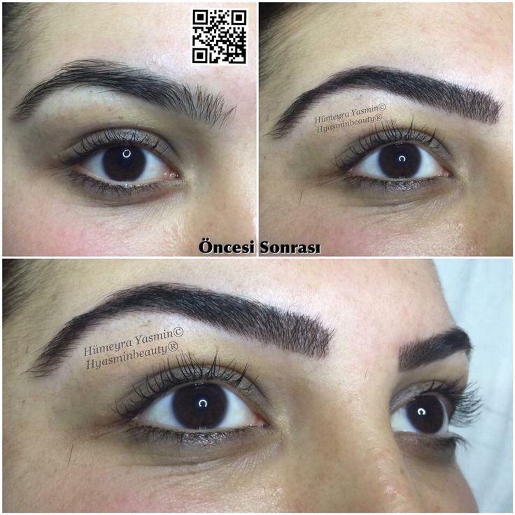 Kalıcı makyaj Kaş Konturu Kıl Tekniği  Hyasminbeauty 02164885152 Whatsapp 05530203502 Kartal /İstanbul