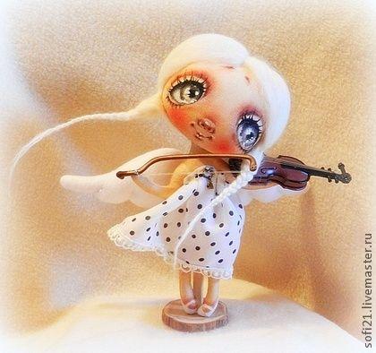 Коллекционные куклы ручной работы. Ярмарка Мастеров - ручная работа Cкрипачечка.... Handmade.