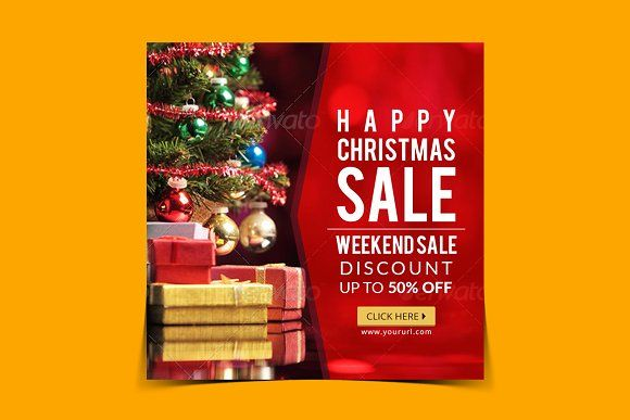 Christmas sale Instagram banner by Nisha Mehta Droch on @creativemarket