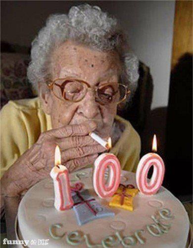 You go, Granny - smoke'em if you got'em @Claire Thomas