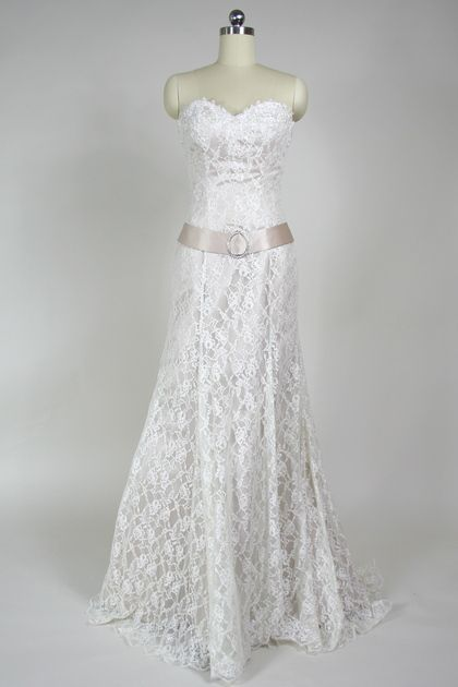 Christina Wu Champagne And Lace Wedding Gown