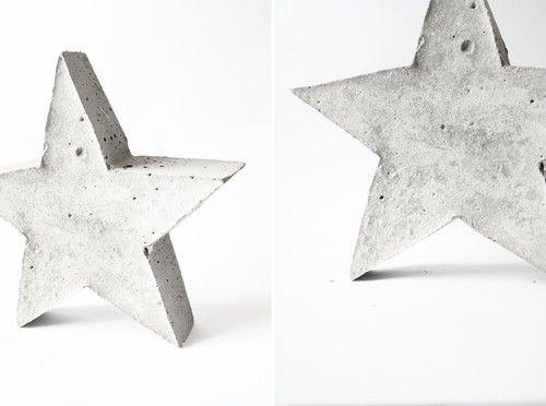 Betong stjärna DIY