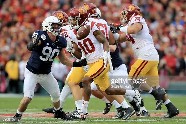 News Photo : Wide receiver Jalen Greene of the USC Trojans...