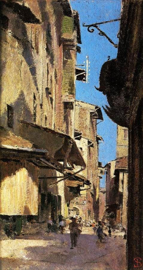 """""""Terenzano near Settignano"""" Telemaco Signorini Private collection"""