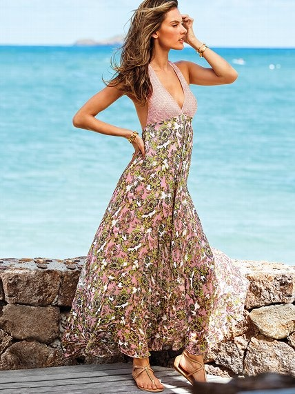 Paisley-print Maxi Dress
