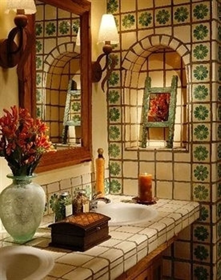 3. More #Tiles - 28 Stunning New Mexican #Decor Ideas You Can #Totally Copy…