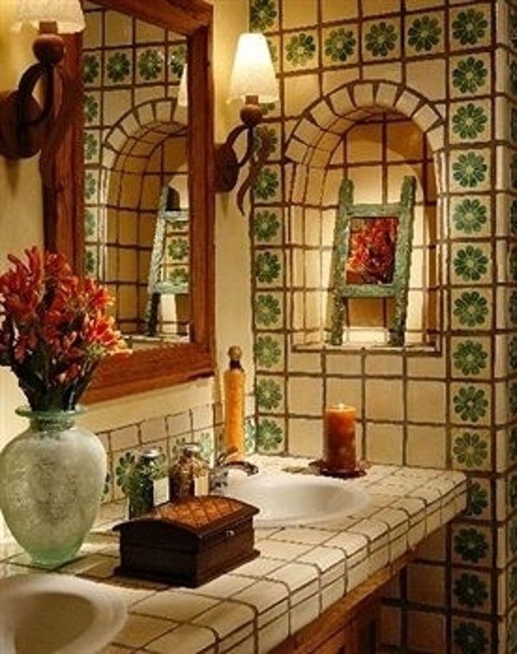 89 best talavera tile bathroom ideas images on pinterest for Santa fe style bathroom ideas