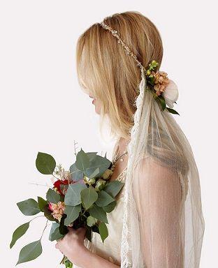 ベールとの境目に *ウェディング 花飾りのヘッドアクセ 一覧*