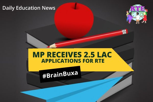#EducationNews MP Receives 2.5 Lac Applications for RTE  --   Under the Right to Education (RTE) in Madhya Pradesh this year, a record number of 2.5 lac applications were received. Most of applicants belong from mainly four cities — Bhopal, Indore, Jabalpur and Gwalior.'The Right of Children to Free and Compulsory Education Act' or Right to Education Act (RTE), is an Act of the Parliament of India enacted on 4 August 2009, which describes the modalities o...