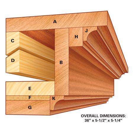 How to build a mantel shelf.