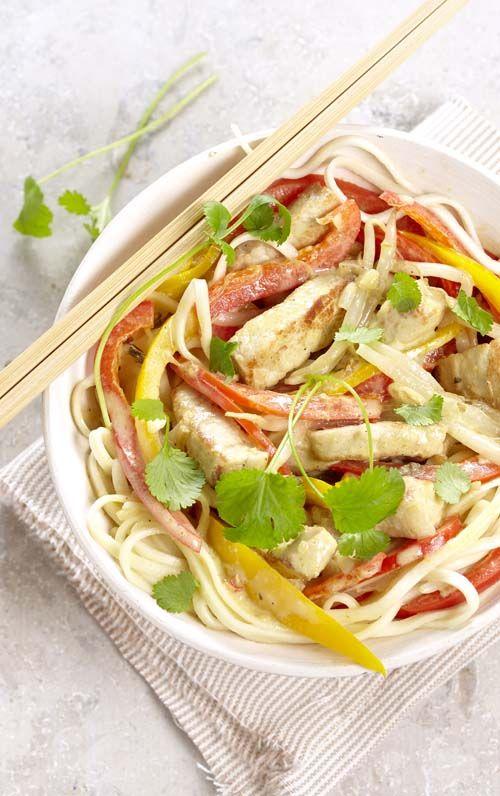 Thaise curry met varkensreepjes en sojascheuten (glutenvrij)
