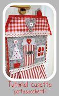 atelier lavanda: Tutorial casetta di Natale porta-sacchetti