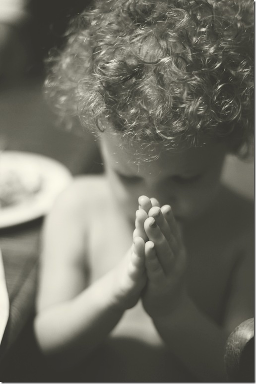 I love the praying hands. Sweet innocence.