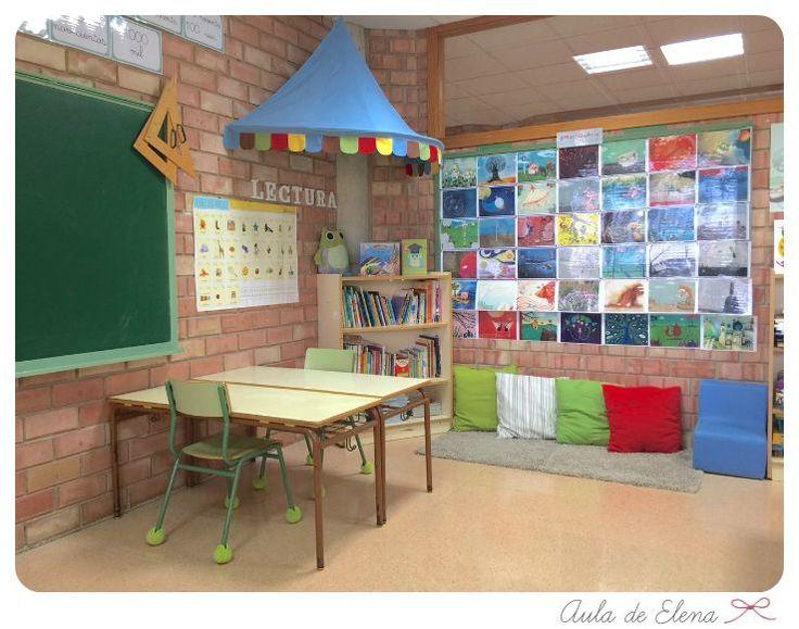 Rincón de lectura y emocionario en el Aula de Elena