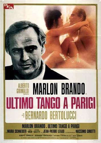 Ultimo tango a Parigi 1972 di Bernardo Bertolucci con Marlon Brando e Maria Schneider