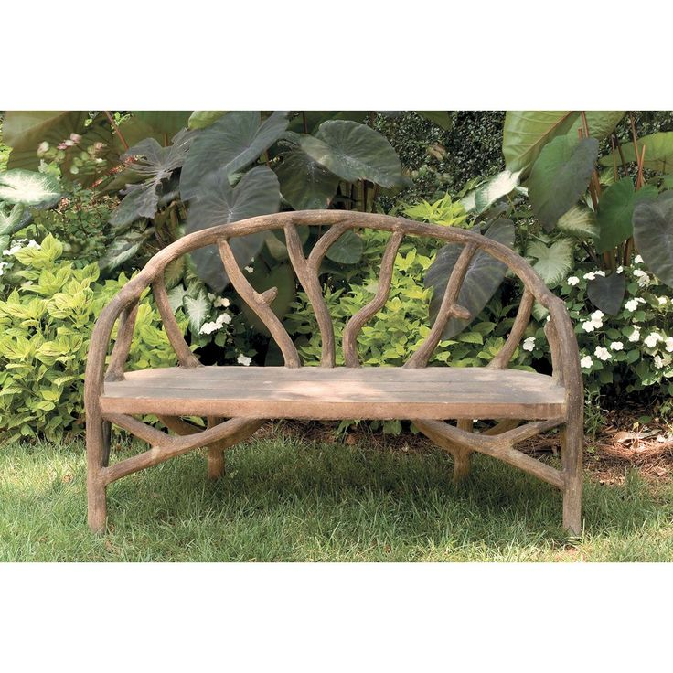 Currey and Company Arbor Faux Bois Bench 2700