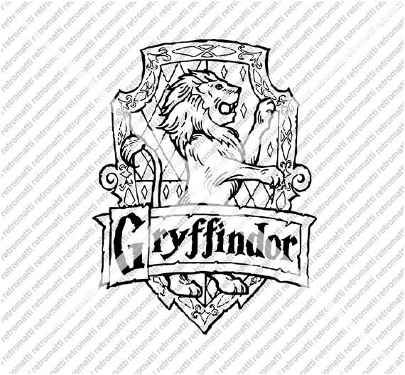 Gryffindor Crest Coloring Page