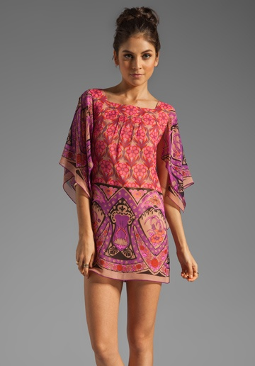 Anna Sui Nouveau Border Print Chiffon Dress in Magenta Multi.  Available At: http://www.revolveclothing.com/DisplayProduct.jsp?product=ASUI-WD111=