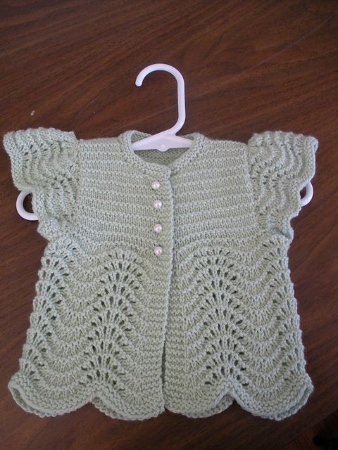 "Ravelry: Project Gallery for Angel Sweater for Baby pattern by Annie Dempsey [   ""knittily"