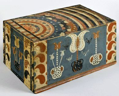 Antique PA Folk Art Box.