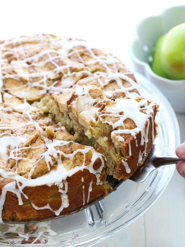 This Decadent Apple Buttermilk Brunch Cake Can Be Served For Breakfast Or Dessert It Gets Made With A Plethora Brunch Cake Breakfast Cake Apple Coffee Cakes